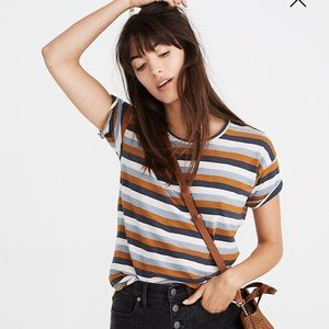 Madewell tee in Marion stripe